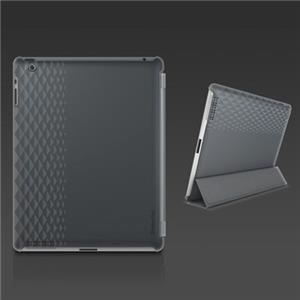 XtremeMac Microshield Silkscreen Soft Case for iPad 3 & iPad 4, Dark Gray: Picture 1 regular