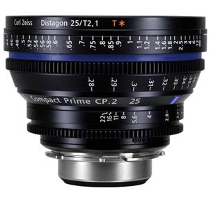 Zeiss Compact Prime CP.2 25mm f/2.1 Distagon T* (Feet) Sony E Mount Lens 1907-593