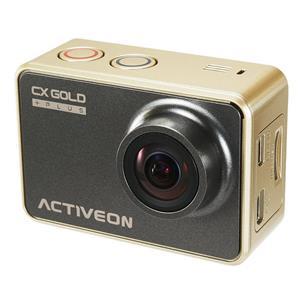 ACTIVEON CX Gold Plus 16MP Full HD Action Camera, 60fps, F/2.4 Lens (Gold/Black)