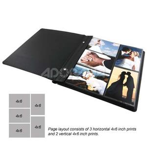 Ashel46 Adorama 4x6 Post Bound Preview Proof Album With 25 Pages