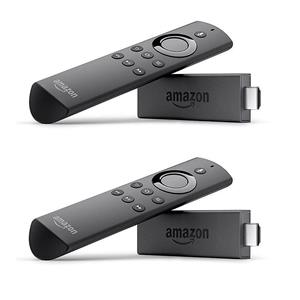 2 x Amazon Fire TV Stick 8GB Streaming Media Player with Alexa Voice Remote