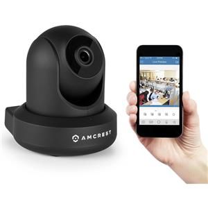 Amcrest IP2M-841 ProHD 1080p Wireless Video Monitoring Pan/Tilt IP Security Camera with 2-Way Audio (Black)