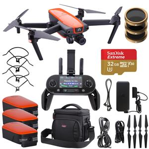 Autel Robotics EVO 3-Axis Gimbal 12MP Quadcopter Drone (Orange) + Adorama Bundle