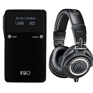 Audio-Technica ATH-M50x Headphones: + FiiO E17K Dac $180 or FiiO X3 II Music Player $225 + free shipping