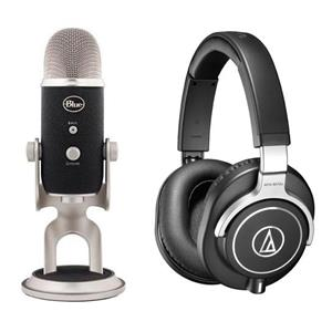 Audio-Technica ATH-M70x Headphones + Blue Yeti Pro USB Microphone $329.99 + free shipping