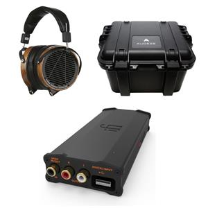 AUDEZE LCD-2 Over-Ear 3.5mm Wired Professional Headphones with Travel Case + iFi micro iDSD