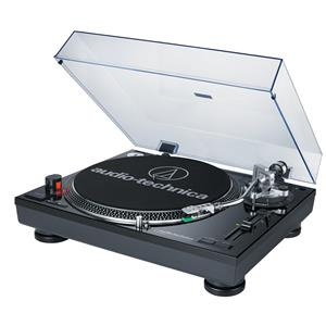 Audio-Technica AT-LP120-USB Direct Drive Professional Turntable (Silver) + Tascam VL-S5 Studio Monitor