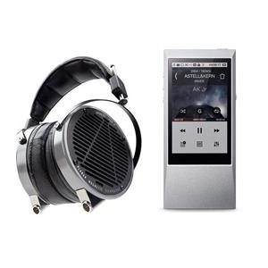 Astell&Kern AK Jr 64GB Portable Hi-Resolution Music Player and DAC + AUDEZE Planar Headphones Aluminum Lambskin