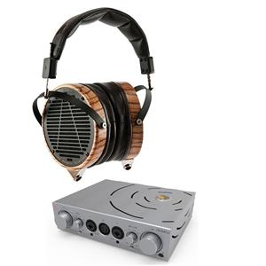 Audeze LCD-3 Over-Ear 6.3mm Wired Studio Headphones with Travel Case (Brown) + iFi Headphone Amplifier