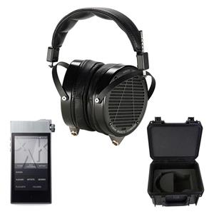 AUDEZE LCD-X Wired Professional Headphones with Travel Case + Astel & Kern AK100 II Sound System