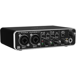 Behringer U-Phoria UMC202HD Audiophile 2x2 USB Audio Interface with MIDAS Mic Preamplifiers