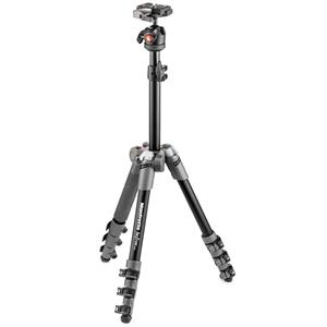Manfrotto Befree One Aluminum Ultra-Compact and Lightweight Tripod with Ball Head, 5.8lbs Capacity (Gray)