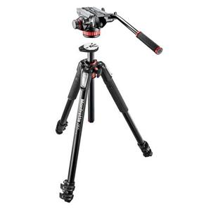 Manfrotto Mt055xpro3 Aluminum 3 Section Tripod With Mvh502ah Fluid Video Head Mvk502055xpro3