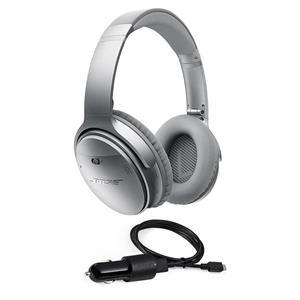 c85e6ed6931 Bose QuietComfort 35 Wireless Headphones Silver Bose 3' BT Headset Car  Charger