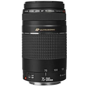 Canon EF 75-300mm F/4-5.6 III USM Autofocus Telephoto Zoom Lens
