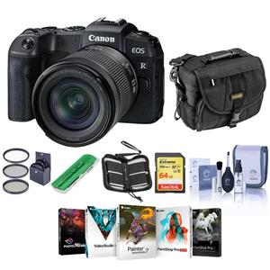 Canon Eos RP 26.02MP 4K Ultra HD Wi-Fi Mirrorless Digital Camera with 24-105mm Lens Bundle