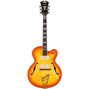 D'Angelico Excel Series 59 Hollowbody Electric Guitar with Stairstep Tailpiece Sunburst
