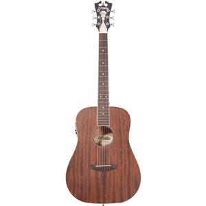 D'Angelico Guitars Premier Niagara Mini Dreadnought Body Acoustic-Electric Guita (Natural Mahogany)