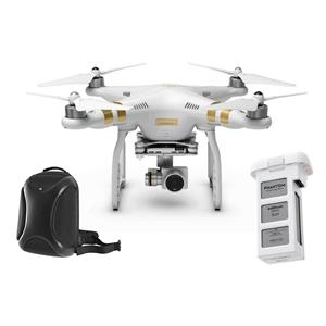 DJI Phantom 3 Professional Quadcopter with 4K Camera + Extra Flight Battery + Hard-Shell Backpack