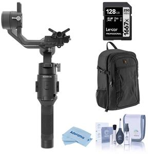 DJI Ronin-SC Gimbal Stabilizer + Microfiber Cleaning Cloth + Lowepro 150 AW Backpack + SanDisk 128GB Memory Card + ProOPTIC Optics KitOptics Care and Cleaning Kit