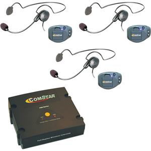 Eartec Comstar Xt 3 User Wireless Intercom System 3x