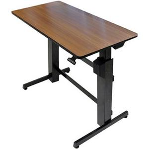 24 271 927 Ergotron Workfit D Sit Stand Desk Walnut Surface