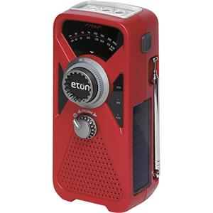 Eton American Red Cross FRX2 Hand Turbine Weather Radio with Smartphone Charger (Red)