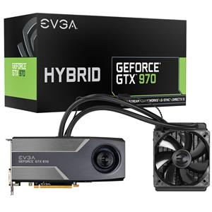 EVGA GeForce GTX 970 4GB GDDR5 Hybrid Gaming Graphics Card