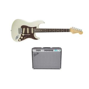 Fender Electric Guitar + Fender 120V Vibrolux Reverb