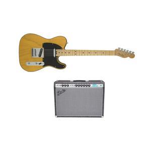 Fender Telecaster Electric Guitar Butterscotch Blnde + Vibrolux Reverb