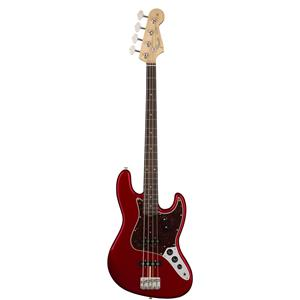 Fender American Original 60s Jazz Electric Bass Guitar (Candy Apple Red)