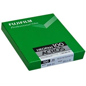 Fujifilm Acros 100,4x5in CutSheet Black/White Film 20Sh: Picture 1 regular
