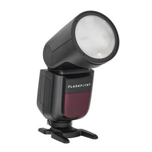 Flashpoint Zoom Li-on X R2 TTL On-Camera Round Flash Speedlight For Canon (Godox V1) + Baseball Cap