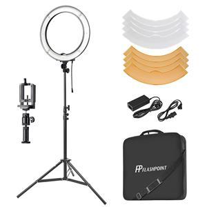 Mobile Phone Holder for Video Capture Makeup Portrait JION Led Ring Light 18 Inch External YouTube Light 360 Dimmable Led Lighting Kit YouTube Video