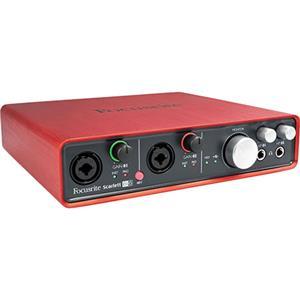 Focusrite 6i6 6-Input/6-Output USB 2.0 Audio Interface with 2x Samson MTR101 Mic