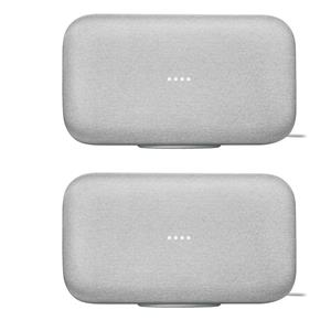 2-Pack Google Home Max Wireless Multi Room Speaker with Google Assistant (Chalk)