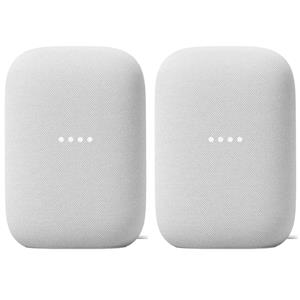 2-Pack Google Nest Audio Smart Speaker (Chalk)