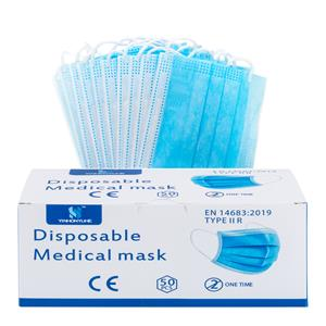 50-Pack General Brand Disposable 3-Ply Fabric Face Mask
