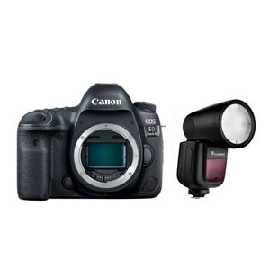Canon EOS 5D Mark IV DSLR Body With Flashpoint Zoom Li-on R2