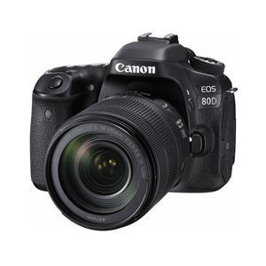 Canon EOS 80D 24.2MP HD Digital SLR Camera with 18-135mm f/3.5-5.6 IS USM Lens (Black) - Manufacturer Refurbished