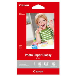 10-Pack of 50-Sheets Canon GP-701 Glossy Photo Paper 4x6