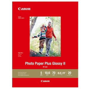 10-Pack of 20-Sheets Canon Photo Paper Plus Glossy II 8.5x11