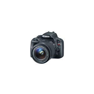 Canon EOS Rebel SL1 18MP HD Digital SLR Camera with 18-55mm Lens (Black) + EF 75-300mm f/4-5.6 III Autofocus Lens - Refurbished