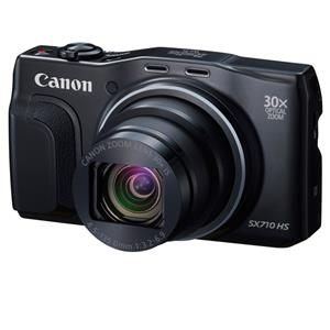 Canon PowerShot SX710 HS 20MP HD Digital Camera with 30x Optical Zoom (Black) - Refurbished + 2-Pack 8GB SDHC Memory Card
