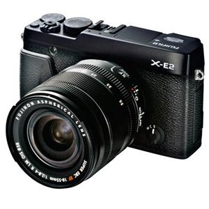 Fujifilm X-E2 16.3MP Mirrorless Camera with 18-55mm Lens - Black + Free Battery + Half Case + Holster