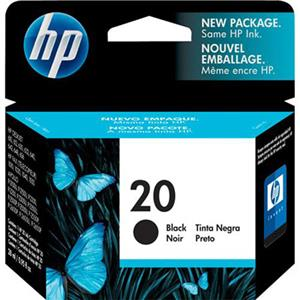 HP #20 Black Ink Cartridge C6614D