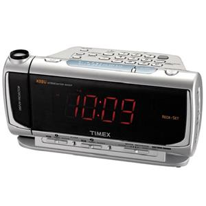 timex dual alarm clock radio with redi set automatic setting system time pro. Black Bedroom Furniture Sets. Home Design Ideas