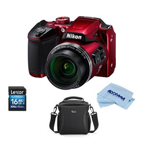 Nikon Coolpix B500 Dig Point Amp Shoot Camera Red With