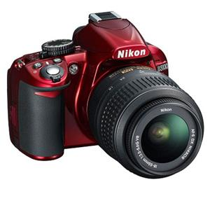 Nikon D3100 14.2MP Full HD 1080p Digital SLR Camera with 18-55mm Lens (Red) - Refurbished