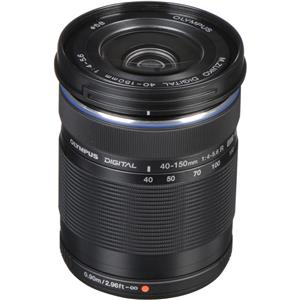Olympus M. Zuiko Digital ED 40-150mm f/4-5.6 R Zoom Lens (Black)